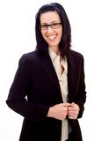 Casual Corporate Portrait. Of female executive smiling royalty free stock image