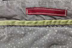 Casual cotton men's trousers. Detail of gray casual cotton men's trousers Royalty Free Stock Image