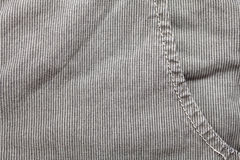 Casual cotton men's trousers. Detail of gray casual cotton men's trousers Stock Image