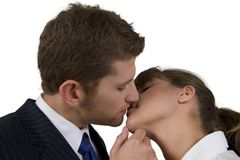 Casual couple kissing Royalty Free Stock Images