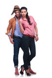 Casual couple looking fabulous Stock Images