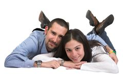 Casual couple in love Stock Image
