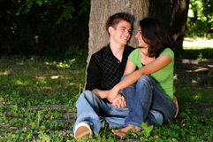 Casual couple in love Royalty Free Stock Photography