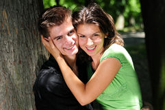 Casual couple in love Royalty Free Stock Image