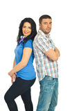 Casual couple models Royalty Free Stock Images