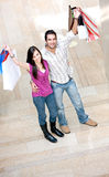 Casual couple shopping Stock Photo