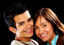 Casual couple smiling Royalty Free Stock Images