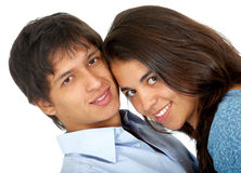 Casual couple smiling Royalty Free Stock Image