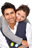 Casual couple smiling Stock Photo