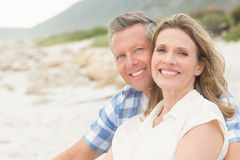 Casual couple smiling at camera Stock Images
