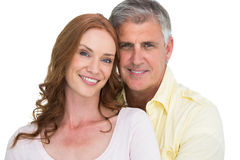 Casual couple smiling at camera Royalty Free Stock Images