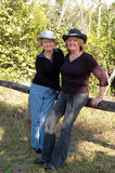 Casual cowgirls Royalty Free Stock Photography