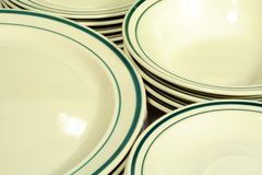 Casual Dinnerware. This is a close up image of casual dinnerware stock photos
