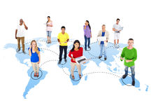 Casual Diverse People and Connection Concepts Stock Images