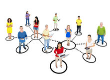 Casual Diverse People and Connection Concepts Stock Photo