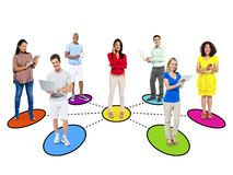 Casual Diverse People and Connection Concepts Royalty Free Stock Photos