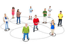 Casual Diverse People and Connection Concepts Stock Image