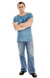 A casual dressed caucasian man with arms folded Royalty Free Stock Photo