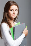 Casual dressed high school student girl Royalty Free Stock Images