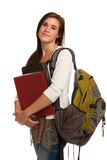 Casual Dressed High School Student Holding Books Royalty Free Stock Image