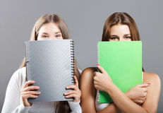 Casual dressed high school students Stock Photography
