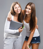 Casual dressed high school students girl Stock Images