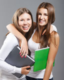 Casual dressed high school students girl Stock Photo