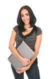 Casual Dressed Hispanic Female Student Royalty Free Stock Photo