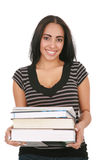 Casual Dressed Hispanic Female Student Royalty Free Stock Image