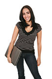 Casual Dressed Hispanic Female Student Royalty Free Stock Photography