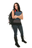 Casual Dressed Hispanic Female Student Portrait Royalty Free Stock Images