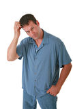 Casual Dressed Man Scratching Head Royalty Free Stock Image
