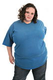 Casual dressed plus size model standing Stock Image