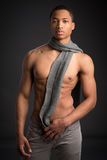 Casual Dressed Young African American Male Fashion Model Natural Stock Photos