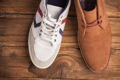 Casual and dressy mens shoes Stock Images