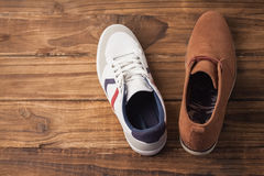 Casual and dressy mens shoes Royalty Free Stock Photo