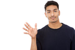 Casual east asian man on white isolated background Stock Photography