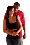 Casual Embrace. African American couple standing in a casual but tender embrace Stock Photography