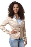 Casual ethnic woman smiling Royalty Free Stock Photography