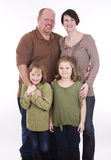 Casual family of four Royalty Free Stock Image