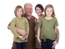 Casual family of four Stock Image