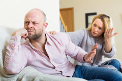 Casual family having quarrel Royalty Free Stock Photography