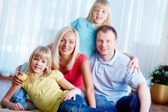 Casual family Stock Photos