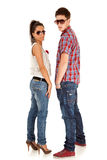 Casual fashion couple Stock Photography