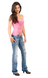 Casual fashion girl standing Stock Image
