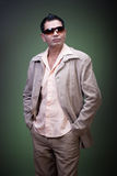 Casual fashion pose (2). Man in trendy clothes posing casually (2 Royalty Free Stock Photos