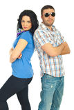 Casual fashionable couple Stock Images