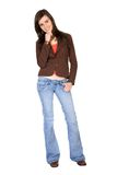Casual Female Portrait - full body Royalty Free Stock Photos