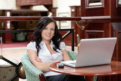 Casual Female Smiling Royalty Free Stock Photos
