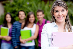 Casual female student Stock Images